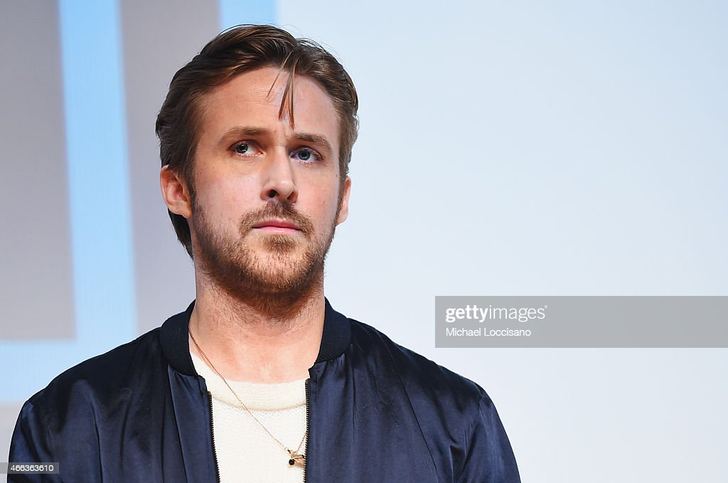 Director/writer Ryan Gosling takes part in a Q&A following the 'Lost River' premiere during the 2015 SXSW Music, Film + Interactive Festival at Topfer Theatre at ZACH on March 14, 2015 in Austin, Texas.