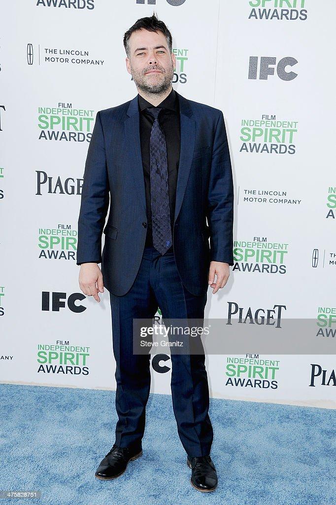 Director/writer Sebastian Lelio attends the 2014 Film Independent Spirit Awards at Santa Monica Beach on March 1 2014 in Santa Monica California