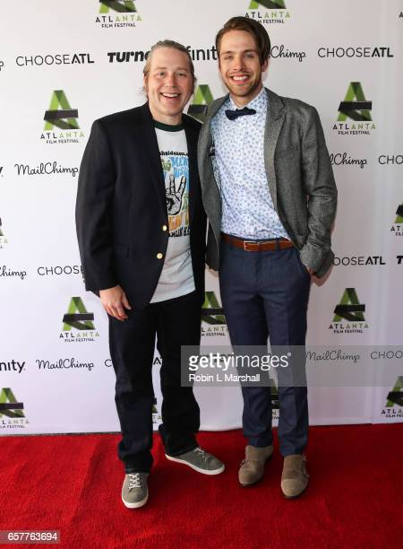 DirectorWriter Tamlin Hall and Actor Matthew Fahey attend the screening of 'Holden On' during the 2017 Atlanta Film Festival at the Plaza Theatre on...