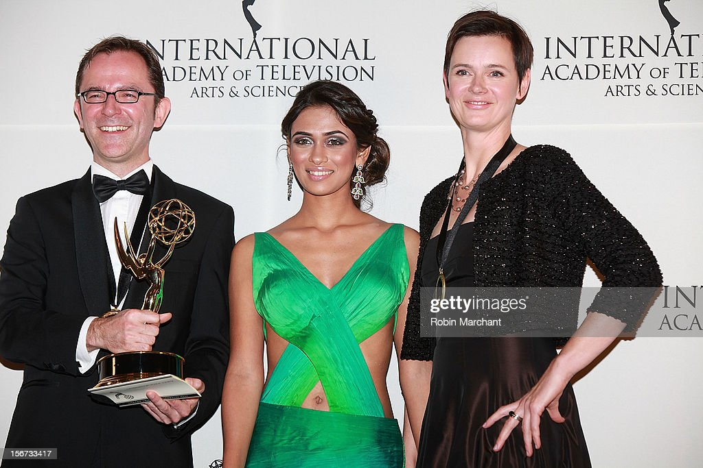 Director/writer Tristan Chytroschek, actress Prerna Wanvari and commissioning editor Susanne Mertens attend the 40th International Emmy Awards on November 19, 2012 in New York City.