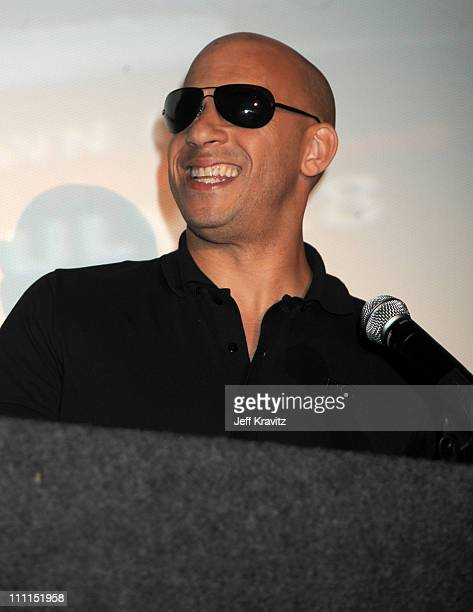 Director/writer Vin Diesel attends Universal Studios Home Entertainment's DVD release of Fast Furious kick off with the US Premiere of Vin Diesel's...