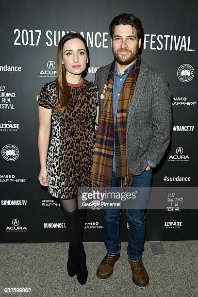 Director/writer Zoe ListerJones and actor Adam Pally attend the 'Band Aid' Premiere at Eccles Center Theatre on January 24 2017 in Park City Utah