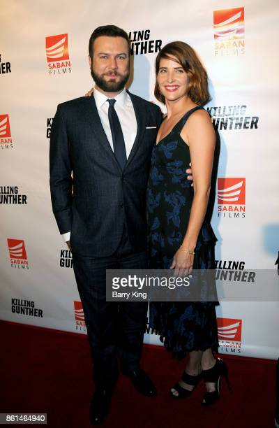 Director/writer/actor Taran Killam and wife actress Cobie Smulders attend the premiere of Saban Films' 'Killing Gunther' at TCL Chinese Theatre on...