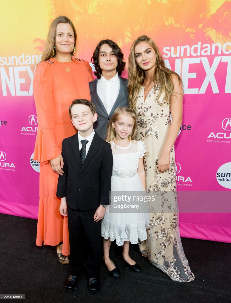 Director/Writer/Actress Marianna Palka, Actor Jason Maybaum, Actor Rio Mangini, Actress Kingston Foster and Actress Brighton Sharbino arrive for the 2017 Sundance NEXT FEST at The Theater at The Ace Hotel on August 12, 2017 in Los Angeles, California.