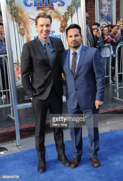 Director/writer/executive producer Dax Shepard and actor Michael Pena arrive at the premiere of Warner Bros Pictures' 'CHiPS' at TCL Chinese Theatre...