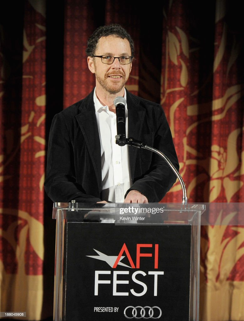 Director/writer/producer Ethan Coen speaks onstage during the AFI Premiere Screening of 'Inside Llewyn Davis' at TCL Chinese Theatre on November 14...