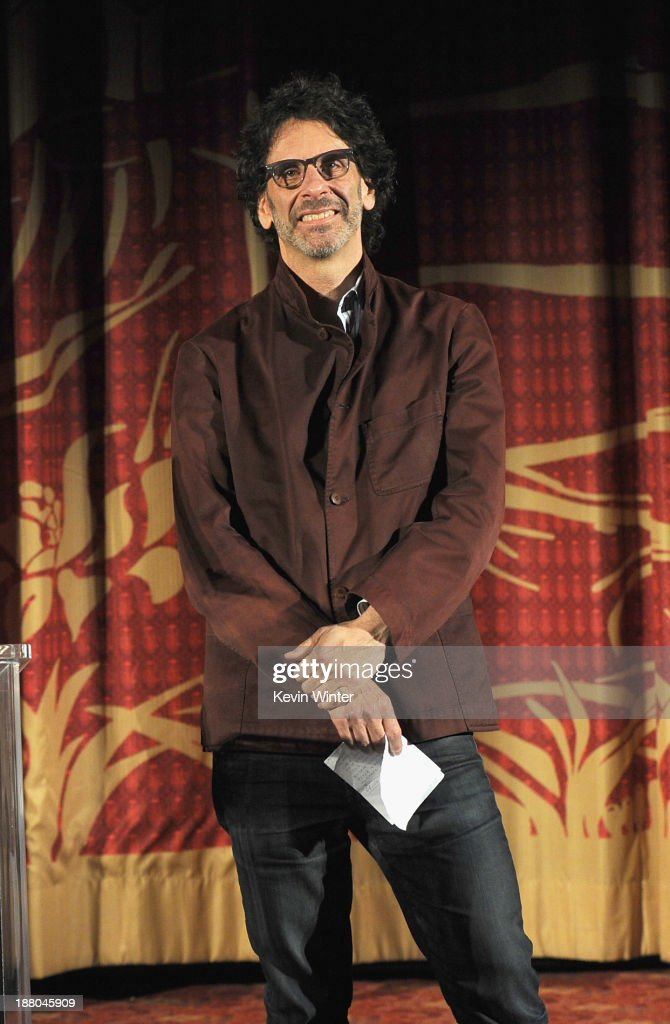 Director/writer/producer <a gi-track='captionPersonalityLinkClicked' href=/galleries/search?phrase=Joel+Coen&family=editorial&specificpeople=4292064 ng-click='$event.stopPropagation()'>Joel Coen</a> onstage during the AFI Premiere Screening of 'Inside Llewyn Davis' at TCL Chinese Theatre on November 14, 2013 in Hollywood, California.