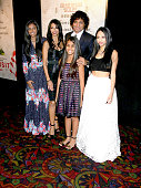 Director/writer/producer M Night Shyamalan wife Bhavna Vaswani and family attend 'The Visit' New York premiere at Regal Cinemas Union Square on...
