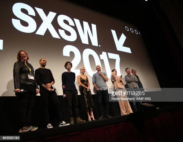 SXSW Diretor of Film Janet Pierson Elijah Bynum Timothee Chalamet Maika Monroe Alex Roe Maia Mitchell Ryan Friedkin and Javier Julia attend...