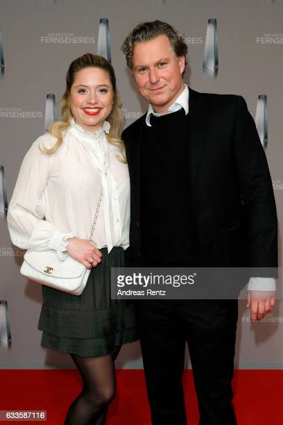 Dirk Borchardt and his wife Caroline Frier attend the German Television Award at Rheinterrasse on February 2 2017 in Duesseldorf Germany