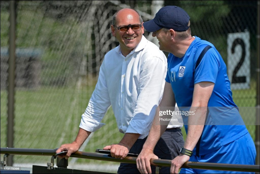 Dirk Degraene during a KRC Genk summer camp training session on July 09 , 2013 in Tegelen, Netherlands.