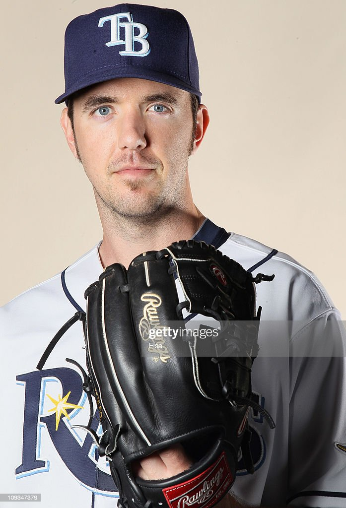 Dirk Hayhurst of the Tampa Bay Rays poses for a portrait during the Tampa Bay Rays Photo Day on February 22 2011 at the Charlotte Sports Complex in...