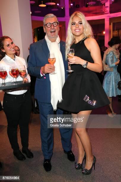 Dirk Kronsbein Christina Bieber during the PIN Party 'Let's party 4 art' at Pinakothek der Moderne on November 18 2017 in Munich Germany