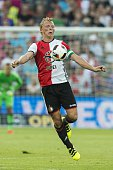 Dirk Kuyt of Feyenoord during the preseason friendly match between Feyenoord and Valencia on July 23 2016 at the Kuip in Rotterdam The Netherlands