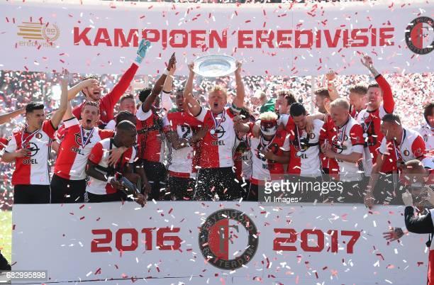 Dirk Kuyt of Feyenoord keeper Kenneth Vermeer of Feyenoord Rick Karsdorp of Feyenoord Sven van Beek of Feyenoord Terence Kongolo of Feyenoord Marko...