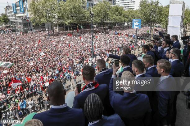 Dirk Kuyt of Feyenoordduring Feyenoord Rotterdam honored Eredivisie champions at the Coolsingel on May 15 2017 in Rotterdam The Netherlands
