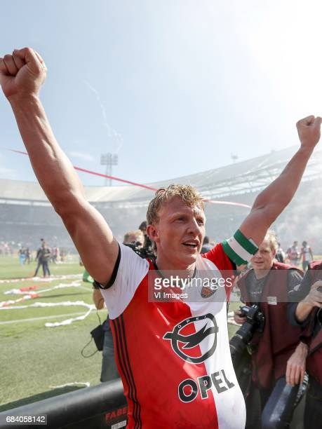 Dirk Kuyt of Feyenoordduring the Dutch Eredivisie match between Feyenoord Rotterdam and Heracles Almelo at the Kuip on May 14 2017 in Rotterdam The...