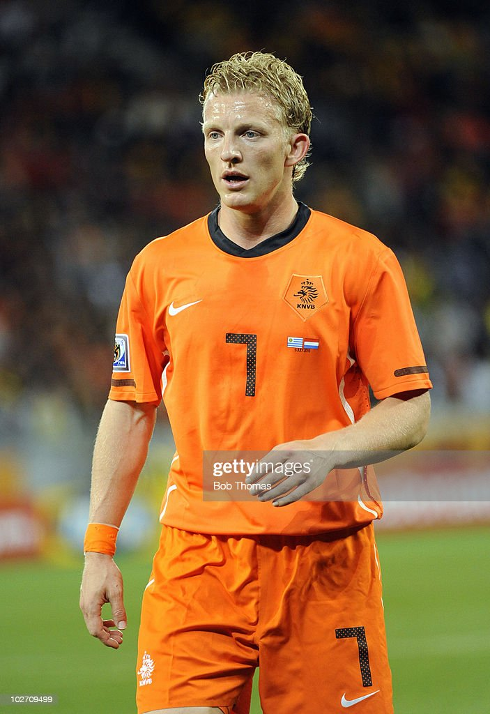 Dirk Kuyt of the Netherlands during the 2010 FIFA World Cup South Africa Semi Final match between Uruguay and the Netherlands at Green Point Stadium...