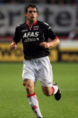 Dirk Marcellis of AZ Alkmaar in action during the Eredivisie League match between FC Twente and AZ Alkmaar held on August 13 2011 at the De Grolsch...