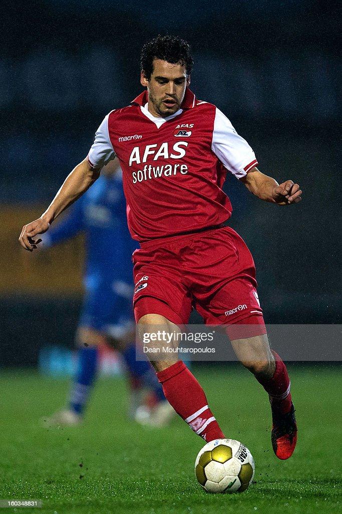Dirk Marcellis of AZ Alkmaar in action during the KNVB Dutch Cup match between FC Den Bosch and AZ Alkmaar at BrainWash Stadion De Vliert on January 29, 2013 in Bosch, Netherlands.
