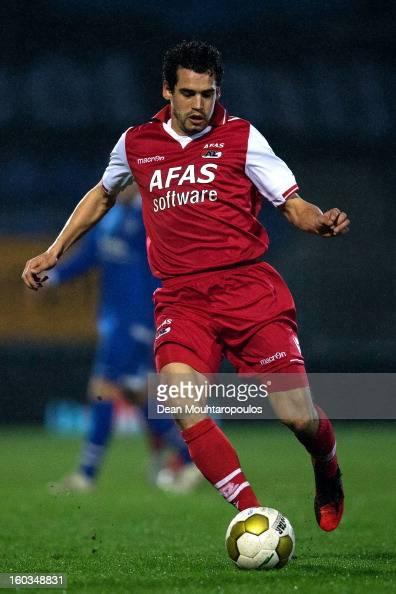 Dirk Marcellis of AZ Alkmaar in action during the KNVB Dutch Cup match between FC Den Bosch and AZ Alkmaar at BrainWash Stadion De Vliert on January...