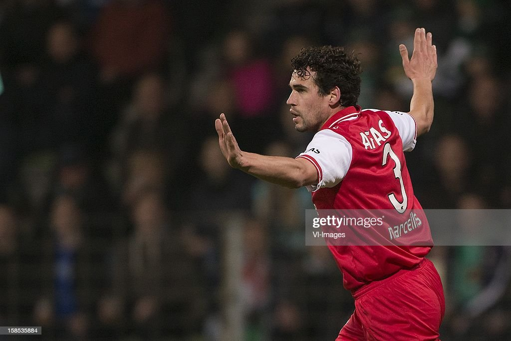 Dirk Marcellis of AZ during the Dutch Cup match between FC Dordrecht and AZ Alkmaar at the GN Bouw Stadium on December 18, 2012 in Dordrecht, The Netherlands.