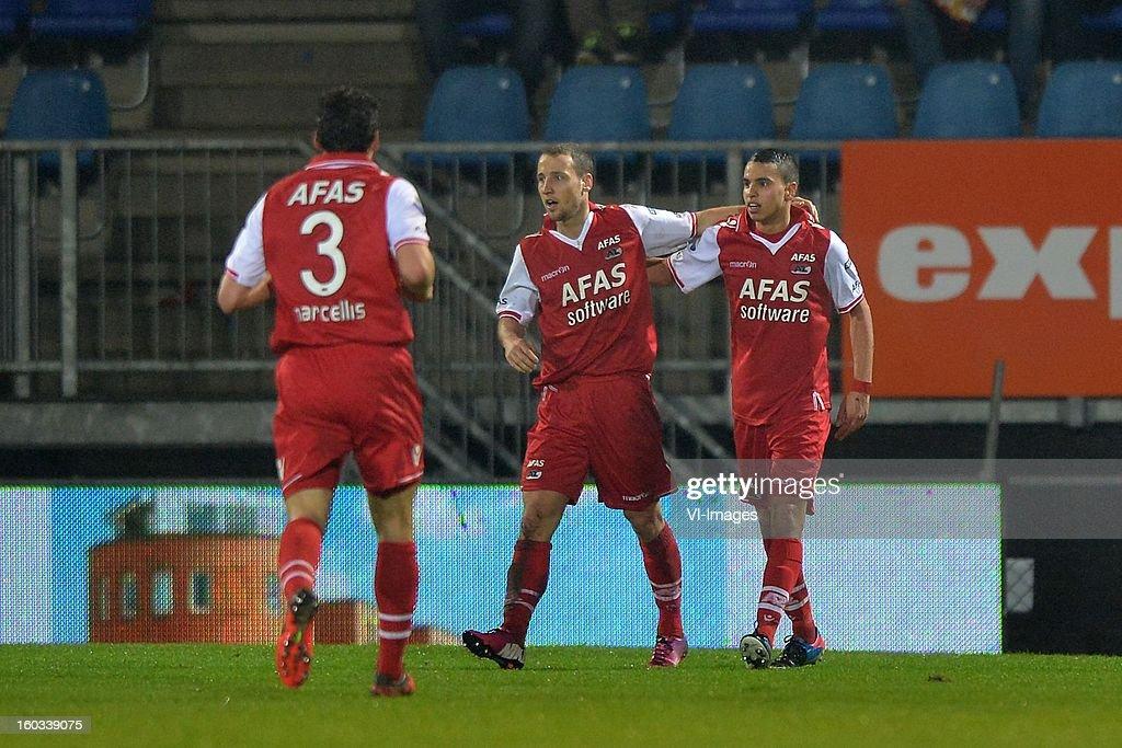 Dirk Marcellis of AZ, Roy Beerens of AZ, Adam Maher of AZ during the Dutch Cup match between FC Den Bosch and AZ at stadium De Vliert on january 29, 2013 in Den Bosch, The Netherlands