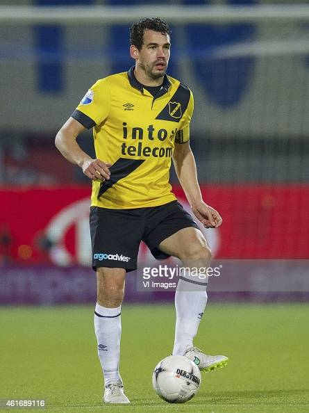 Dirk Marcellis of NAC Breda during the Dutch Eredivisie match between PEC Zwolle and NAC Breda at the IJsseldelta stadium on January 17 2015 in...