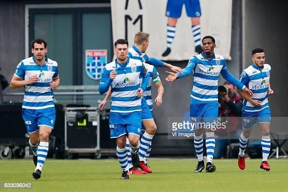 Dirk Marcellis of PEC Zwolle Danny Holla of PEC Zwolle Nicolai BrockMadsen of PEC Zwolle Kingsley Ehizibue of PEC Zwolle Mustafa Saymak of PEC...