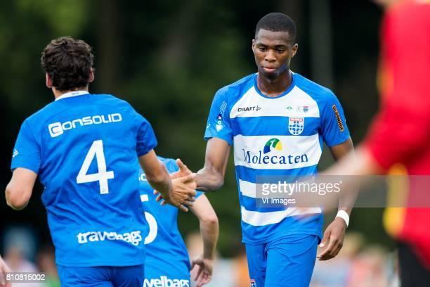 Dirk Marcellis of PEC Zwolle Kingsley Ehizibue of PEC Zwolle during the friendly match between sv Dalfsen and PEC Zwolle at Sportpark Gerner on July...