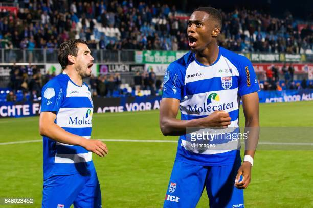 Dirk Marcellis of PEC Zwolle Kingsley Ehizibue of PEC Zwolle during the Dutch Eredivisie match between PEC Zwolle and Heracles Almelo at the MAC3Park...