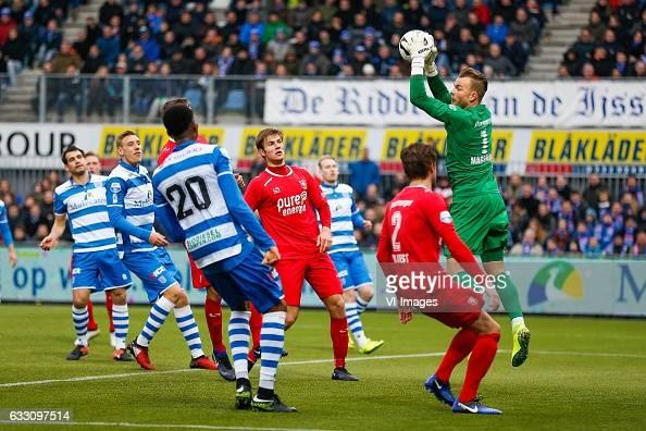 Dirk Marcellis of PEC Zwolle Nicolai BrockMadsen of PEC Zwolle Kingsley Ehizibue of PEC Zwolle Joachim Andersen of FC Twente Hidde ter Avest of FC...