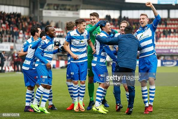 Dirk Marcellis of PEC Zwolle Youness Mokhtar of PEC Zwolle Hervin Ongenda of PEC Zwolle Django Warmerdam of PEC Zwolle Ryan Thomas of PEC Zwolle...