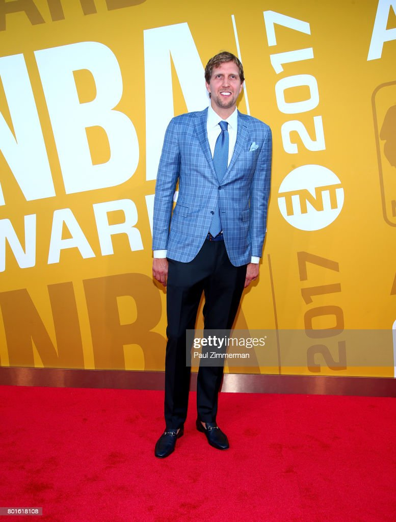 Dirk Nowitzki attends the 2017 NBA Awards at Basketball City - Pier 36 - South Street on June 26, 2017 in New York City.