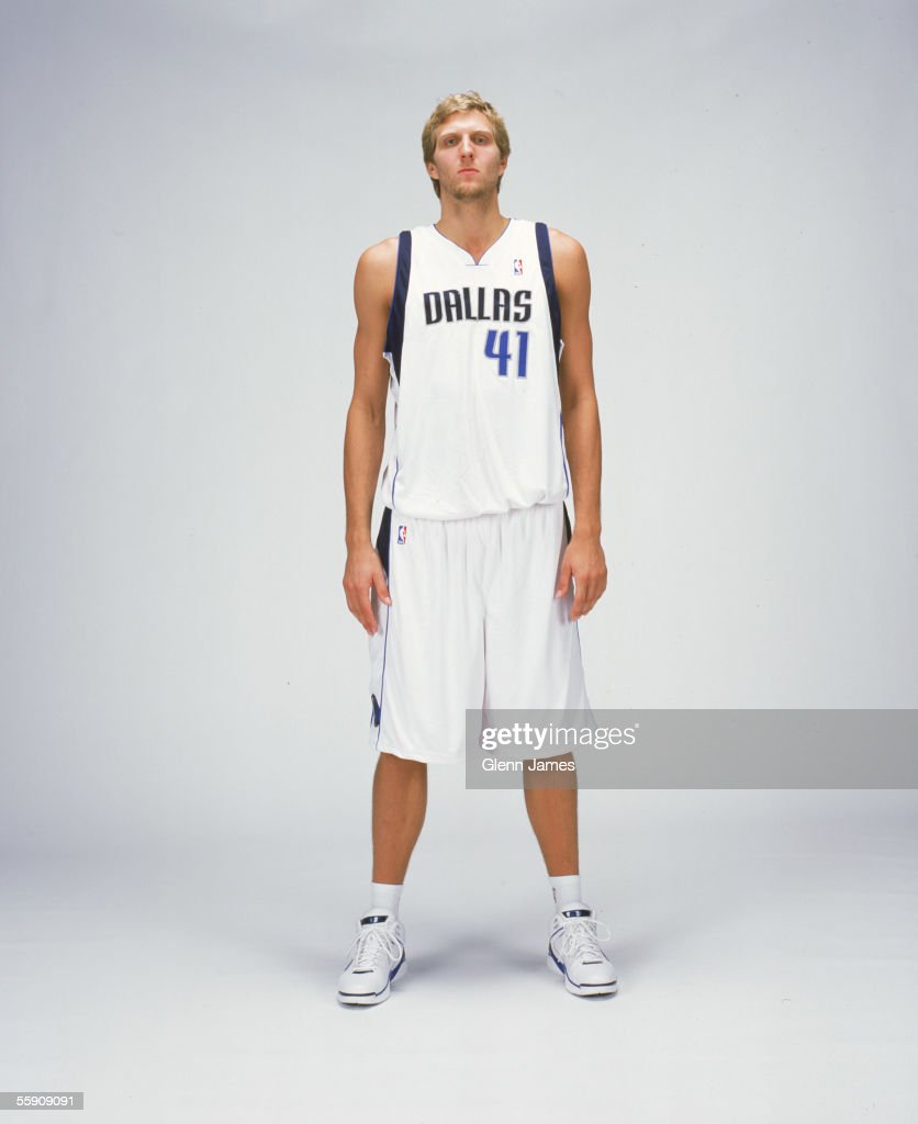 Dirk Nowitzki #41 of the Dallas Mavericks poses for a portrait during NBA Media Day on October 3, 2005 at American Airlines Arena in Dallas, Texas.