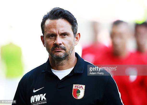 Dirk Schuster head coach of Augsburg before the Bundesliga match between FC Augsburg and SV Darmstadt 98 at WWK Arena on September 24 2016 in...