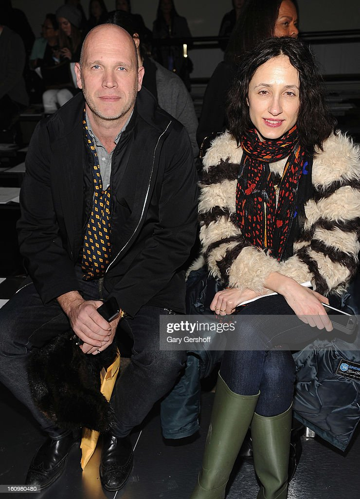 Dirk Standen (L) and Nicole Phelps of Style.com attend Jason Wu during Fall 2013 Mercedes-Benz Fashion Week on February 8, 2013 in New York City.