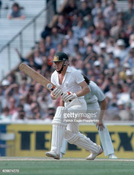 Dirk Wellham batting for Australia during his secondinnings score of 103 in the 6th Test match between England and Australia at The Oval London 31st...