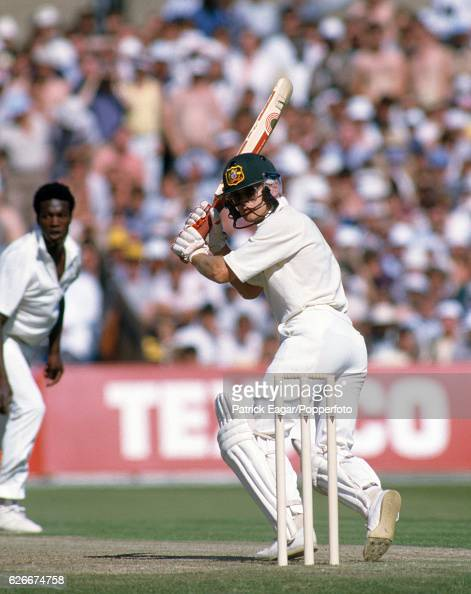 Dirk Wellham batting for Australia during the 1st Texaco Trophy One Day International between England and Australia at Old Trafford Manchester 30th...