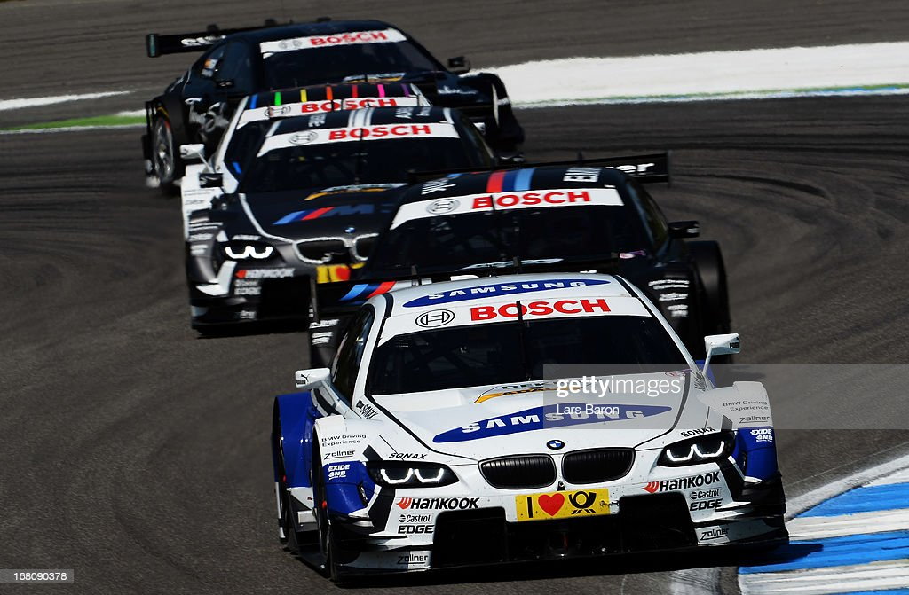Dirk Werner of Germany and BMW Team Schnitzer drives during the first round of the DTM 2013 German Touring Car Championship at Hockenheimring on May 5, 2013 in Hockenheim, Germany.