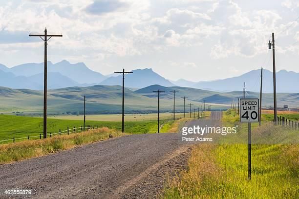 Dirt back road, Montana, USA