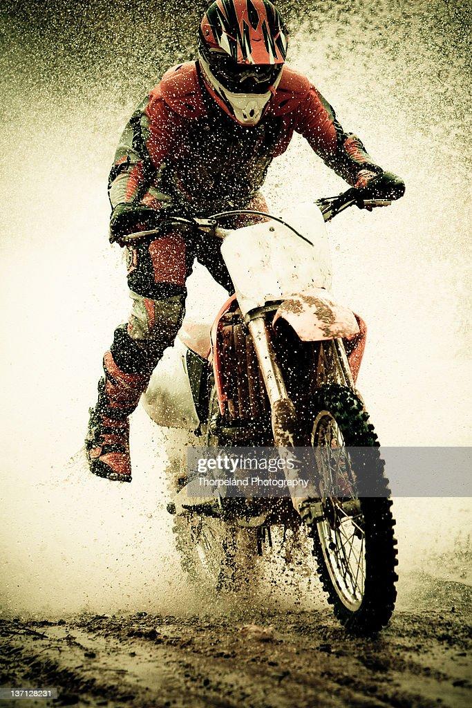 Dirt bike rider : Stock Photo