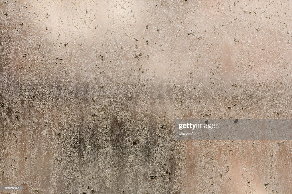 Dirt covered window