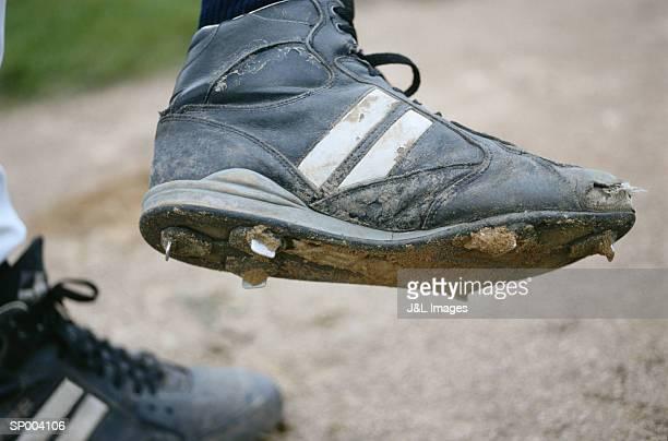 Dirt on Baseball Cleats