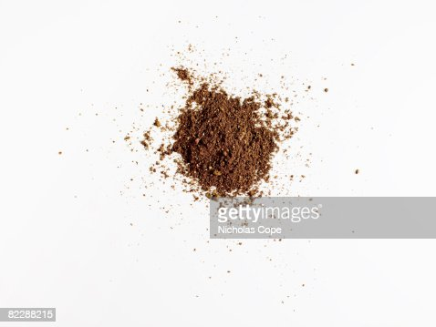 Dirt on pure white ground : Stock Photo