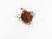 Dirt on pure white ground
