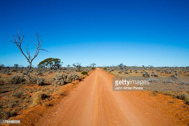Dirt outback road in Coober Pedy
