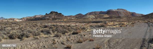 Dirt Road And Gold Mine Near Sulphur, Nevada