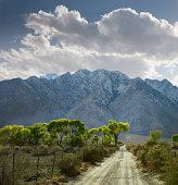 Dirt Road and Mountains