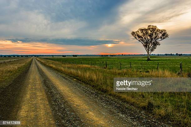 A dirt road in the countryside